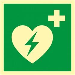 """Rettungszeichen Defibrillator """"AED"""""""