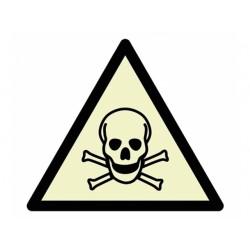 """Warnzeichen """"Warnung vor giftigen Stoffen"""", langnachleuchtend"""