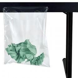 Sac poubelle avec fixation par adhésif