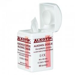 Tampons alcoolisés en boite distributrice